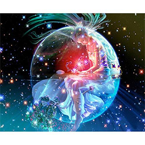 HAOTTP DIY 5D Diamant Malerei Kits Stickerei Zwölf Sternbilder Skorpion Cartoon Bild 3D Mosaikmuster Kreuzstich Wohnzimmer Dekor Das Geburtstagsgeschenk des Kindes 50X100Cm