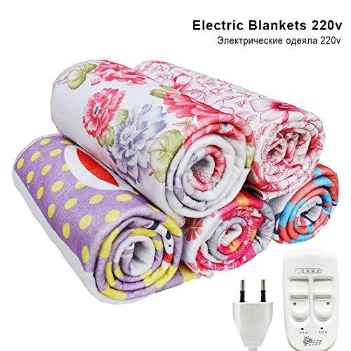 BingWS Snelle verwarmingsdeken, automatische elektrische verwarming, thermostaat, dekbed met dubbele bodywarmer, matras, elektrisch verwarmd, tapijt, zacht