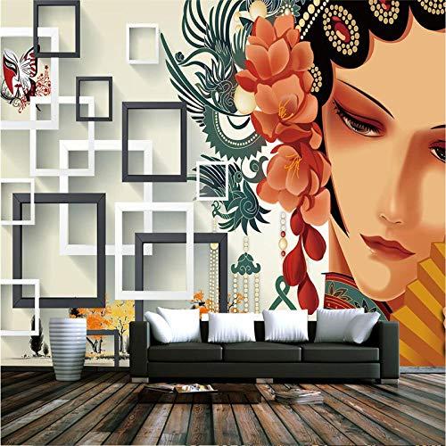 Relovsk Muurschilderingen stereo behang fotolijst wandschilderij woonkamer decoratie vlies Chinese muurschildering 100 x 70 cm.