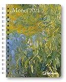 Monet - Buchkalender Deluxe 2021 - Kalenderbuch A5 - Taschenkalender - teNeues-Verlag - Taschenplaner mit Spiralbindung - 17 cm x 22 cm - Kunstkalender