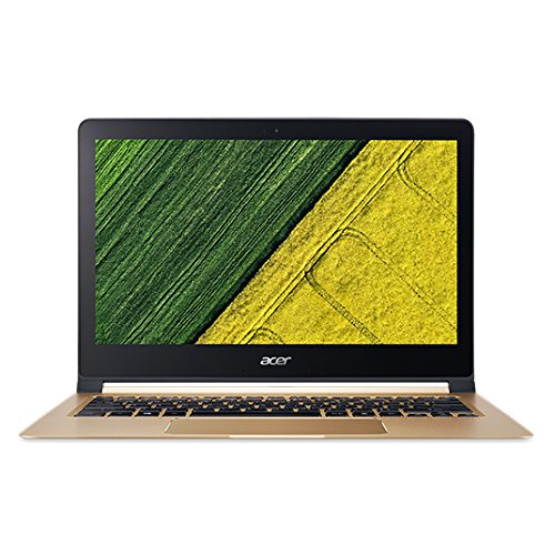 Acer Swift 7 SF713-51 13.3-inch Laptop (7th Gen Core i5-7Y54/8GB/256GB/Windows 10 Home/Integrated Graphics), Black