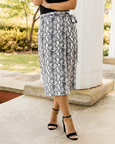 The Drop Women's Python Print Side-Tie Wrap Skirt by @kathleen_barnes