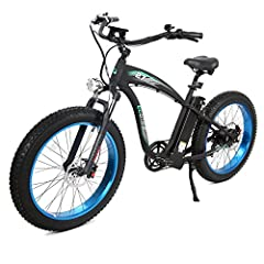 Here is a powerful and cost-effective mountain e-bike with 1000W rear motor and 48V/13AH lithium battery. Its shock absorption equipment and mountain tires allow your unimpeded ride on rough roads. Full charge ride endurance: over 25 miles , the rang...