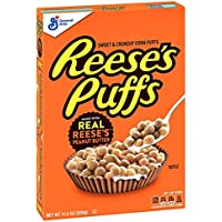 Reese's Puffs Cereal Chocolate Peanut Butter with Whole Grain, 11.5 oz