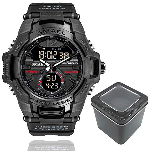 Relógio Masculino G-Shock Smael 1805 Militar Sport Anti-Shock Dual-Time Black Ops