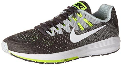Nike Air Zoom Structure 20, Scarpe da Corsa Uomo, Grigio (Dk Grey/White/Pure Platinum/Volt/Matte Silver/Black), 43 EU