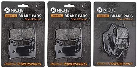 NICHE Brake Pad Set for Honda CBR600RR CBR600F4 CBR900RR RVT1000R 06435-MEE-016 Complete Semi-Metallic