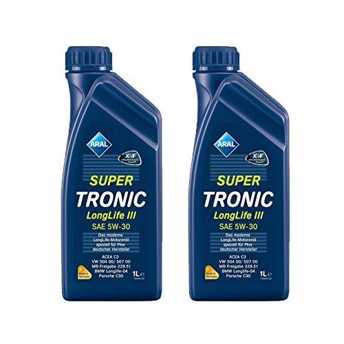 2x 1 L Liter ARAL SuperTronic Longlife III 3 5W-30 Motoröl