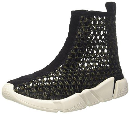 Jeffrey Campbell 6-37jc044 Weave, Chaussures de Cross Femme, Multicolore (Black Khaki (White Sole) 001), 39 EU