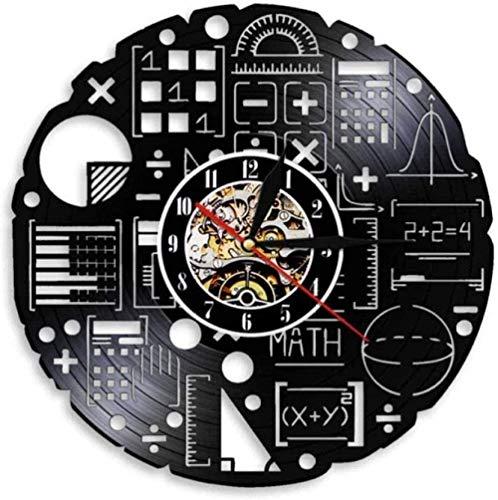 Orologio da parete vinile equazione matematica opera d'arte scienza orologio da parete orologio da parete arte matematica formula vinile record orologio da parete matematica freak scienza nerd insegna