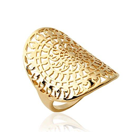 - Alliance Eternit/é Anneau Bibiana Gold Plaqu/é Or 750//000 ISADY Bague femme 18 carats