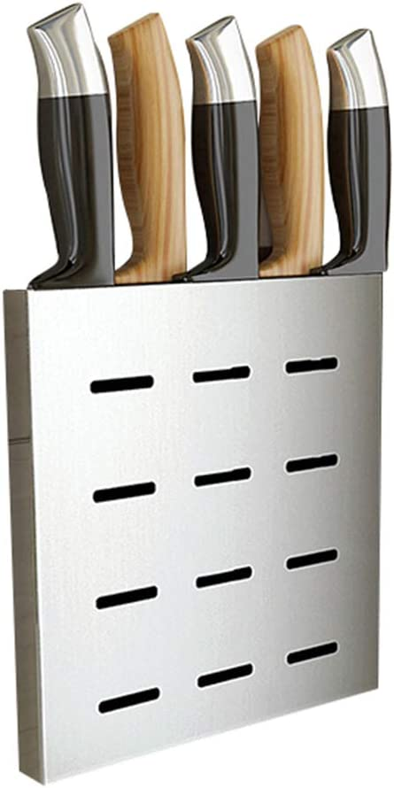 QINEORO Wall-Mounted Knife Same day shipping Holder Luxury goods Universal Ste Slot 2 Stainless
