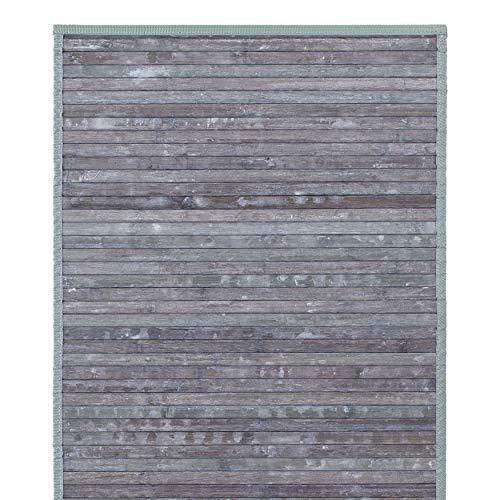 Blomus - Alfombra de bambú (80 x 50 x 0,4 cm), Color Gris y Verde