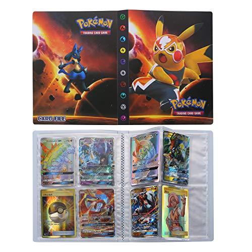 Pokemon Carte Album, Raccoglitore Porta Carte Pokemon, Trading Card Album, Pokemon Card Album Migliore Protezione (Pikachu)