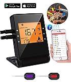 Termómetros de Cocina, Digital Termómetros con LCD Pantalla, Remoto App,Varias Sondas (1 Termómetro + 2 sondas)