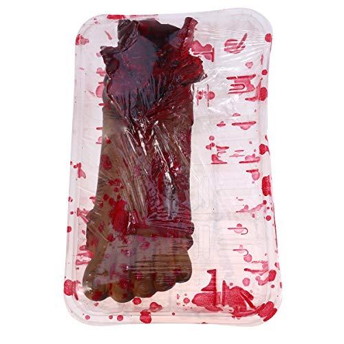 PRETYZOOM Scary Bloody Simulación Pies Caja Decorativa Orgel Realista Strich Prop Haunted House