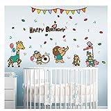 Tierkonzert Happy Birthday DIY Wandaufkleber Kinderzimmer Puppenhaus Kinderzimmer Dekoration Tapete...