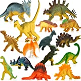 KeepRunning 15 Pack Educational Dinosaur Toys - Kids Realistic Toy Dinosaur Figures for Cool Kids and Toddler Education