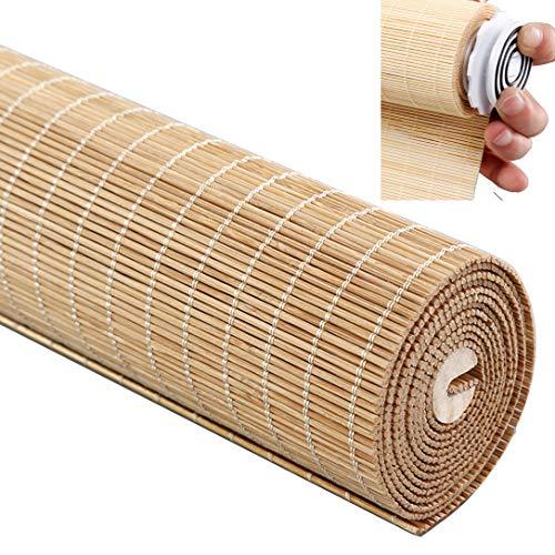 ZYFA bamboe rolgordijn bamboe vouwgordijn, montage zonder boren, zijgeleiding ramen rolgordijnen vouwgordijn houten rolgordijn natuur inkijkbescherming