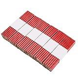 Lápices de carpintero - 72pcs 175mm Lápiz de carpintero octagonal rojo duro de plomo, Herramienta de marcado de carpintería