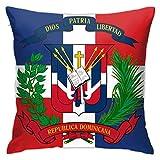 Bandera de República Dominicana Fundas de Almohada Fundas de Almohada cuadradas para sofá, sofá, Cama, Patio, Hotel Diseño único Fundas de Almohada de Bandera de República Dominicana 18 x 18 Pulgadas