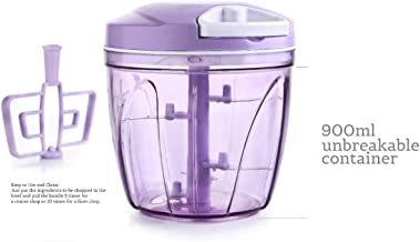 Layris Kitchen Product Jumbo Vegetable Chopper; Cutter; Lid for Kitchen; 5 SS Blades + Whisker Blade (900 ML Multi Color)