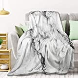 AMITAYUS Marble Fleece Throw Blanket Lightweight Super Soft Flannel Bed Blanket Perfect Home Decor for Couch Chair Sofa Living Room 50'X40' Small