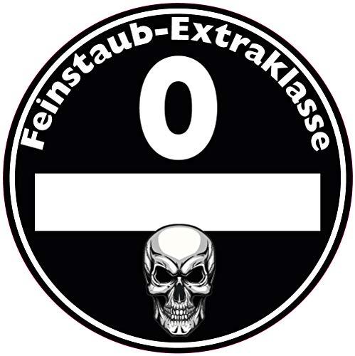 Feinstaub Plakette Aufkleber Sticker Diesel Umwelt TÜV transparent innen klebend, 2 Stück! JDM Auto Tuning Fun Motorrad LKW schwarz