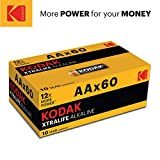 Quality Kodak Alkaline AA Batteries x 60 pack – Giving you more power
