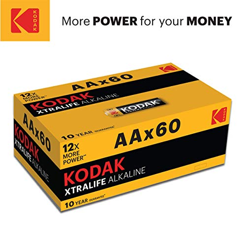 Quality Kodak Alkaline AA Batteries x 60 pack – Giving you more power for your...