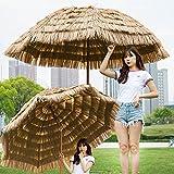 YXW 2,4 m Hawaii Strandschirm Sonnenschirm Sonnenschutz UV30+ Gartenschirm Terrassenschirm Neigbar, 8 Rippen, ohne Ständer