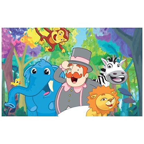 Painel De Festa Infantil Mundo Bita Animais 2.50M X 1.50M