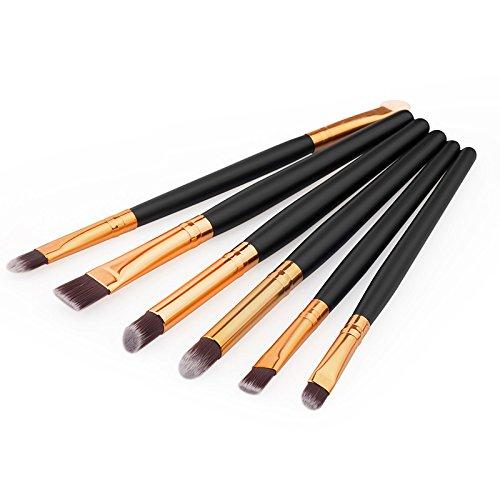 zreal 470/5000 6 pièces pinceau cosmétique professionnelle pinceau paupières/pinceau eyeliner ensemble d'outils