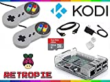Raspberry Pi 3 with RetroPie & Kodi - Ultimate Emulation Console with SNES Controllers (32 GB)