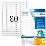 HERMA Etichette per Prezzi, 35,6 x 16,9 mm, Etichette Adesive A4 per Stampante, 80 Etichet...