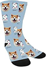 Custom Face on Socks, My Dog and Heart Boy's Socks with Personalized Faces on Them