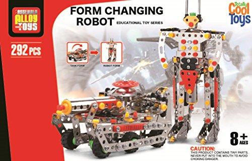 TOY-ROBOT/TANK TRANSFORM METAL EDUCATIONAL BUILDER