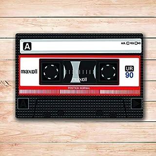 長方形のドアマットの敷物の中のカセットテープ設計ドアマットの敷物 75x45cm