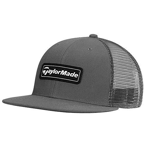 TaylorMade Lifestyle Trucker Flatbill Snapback Hat, Grey