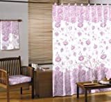 Duschvorhang 'CHARME' 180x200 cm - weiß mit rosa Blumenmotiv - GELCO DESIGN