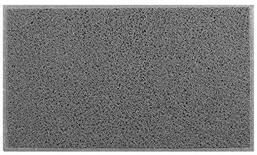 Felpudo Entrada casa de rizos   Felpudo de rizos   Felpudo limpiabarros   Felpudo rizos Vinilo (Gris, 60 x 90 cm)