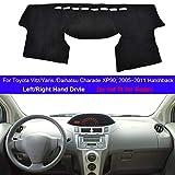 XW-YBPBG. Tablero de instrumentos cubierta del coche de la rociada alfombra de la estera for Toyota Vitz Yaris Hatchback Daihatsu Charade XP90 2005-2011 LHD RHD Auto cubierta del salpicadero 2010