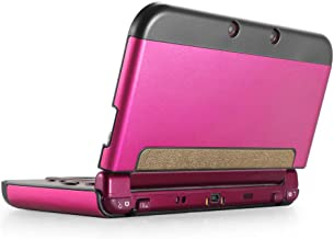 TNP New 3DS XL Case (Hot Pink) - Plastic + Aluminium Full Body Protective Snap-on Hard Shell Skin Case Cover for New Nintendo 3DS LL XL 2015 - [New Modified Hinge-Less Design]