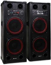 Fenton SPB-210 Sonido profesional Pareja de Altavoces autoamplificados DJ 25cm (10