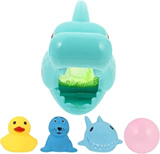TOYANDONA 1 Set Fishing Playset Shark Catching Fish Toy Bathtub Shower Plaything