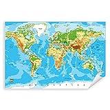 Postereck - 0848 - Detaillierte Weltkarte, Hauptstädte