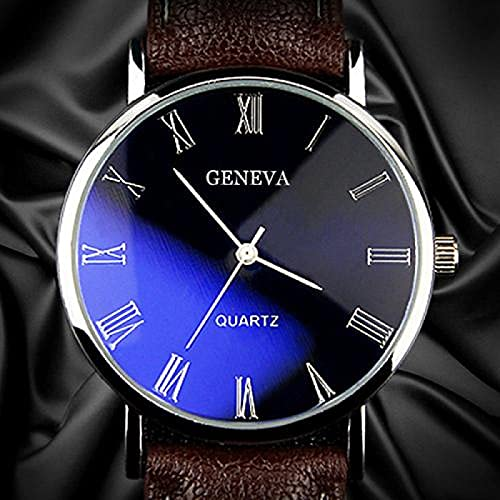 Cuitan Hombres Watch BLU-Ray Faux Band Band Quartz Business Business Watch Watch