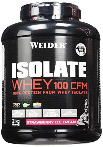 WEIDER Isolate Whey 100 CFM, hochwertiges Molkenproteinisolat, Erdbeere Eiweißpulver, 2kg