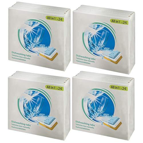 SPARES2GO All in 1 azione Disincrostante calcare Pastiglie per lavastoviglie (confezione da 96)