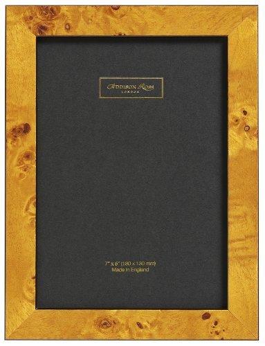 Addison Ross, Poplar Wood Veneer Photo Frame, 4x6, Honey Fiber Back, 4 x 6 Inches by Addison Ross